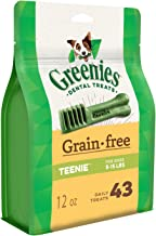 Greenies Grain Free Dental Treats for Teenie Dog, Puppy/Adult, 340g, 43 treats