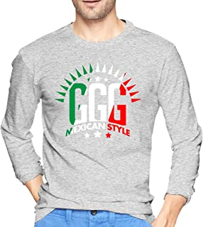 GGG Mexican Style Boxing Men's Long Sleeve T-Shirt Outdoor Cotton Long Sleeve T-Shirt