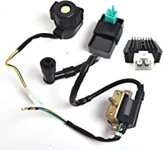 Outdoors & Spares Replaces CDI Box Ignition Coil Solenoid Relay Voltage Regulator for 50cc 70cc 90cc 110cc 125cc Chinese ATV Dirt Bike and Go Kart
