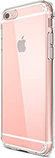 Ailun Phone Case Compatible iPhone 7 [4.7inch],Solid Acrylic Back&Reinforced Soft TPU Frame,Ultra-Clear&Slim,Shock-Absorption Bumper,Anti-Scratch&Fingerprint&Oil Stain Back Cover [Clear]