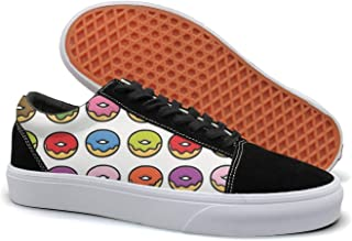 PDAQS Donut Stress Just Do Your Best Teacher Pink Women Canvas Shoes Oldskoo Training Shoes Low Top