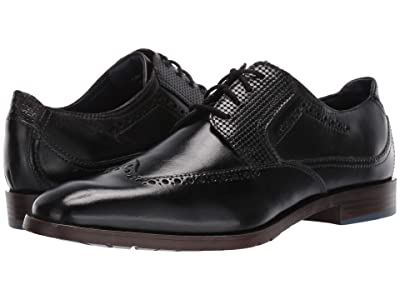 Stacy Adams Rooney Wing Tip Oxford (Black) Men