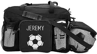 Black Soccer Kids Personalized Medium Duffel Bag by Lillian Vernon, 19