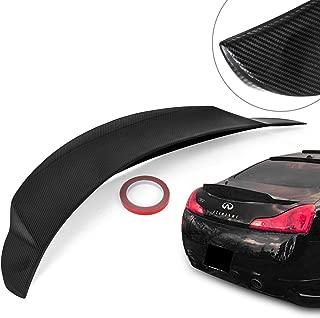 Mophorn Carbon Fiber Spoiler Wing G37 Trunk Spoiler Black Rear Trunk for Infiniti G37 2008-2013