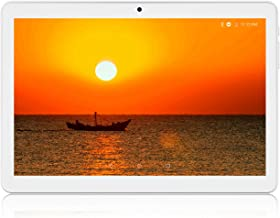 Tablet 10.1 Inch, Android 8.1Tablets PC, 3G Unlocked Phablet with Dual SIM Card Slots, 32GB, Quad-Core Processor, Dual Camera, GMS Certified, 6000mAh Battery, WiFi, Bluetooth, GPS-Silver