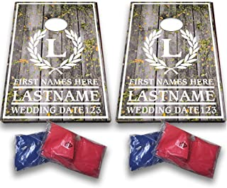 VictoryStore Custom Wedding Bag Toss Game – Custom Wedding Cornhole - Laurel and Initial