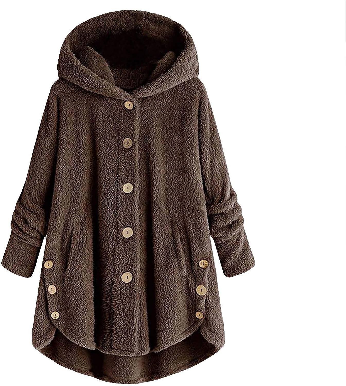 Women Hooded Coat Plus Size Button New arrival Jac Loose Cardigan Tops Sale Plush