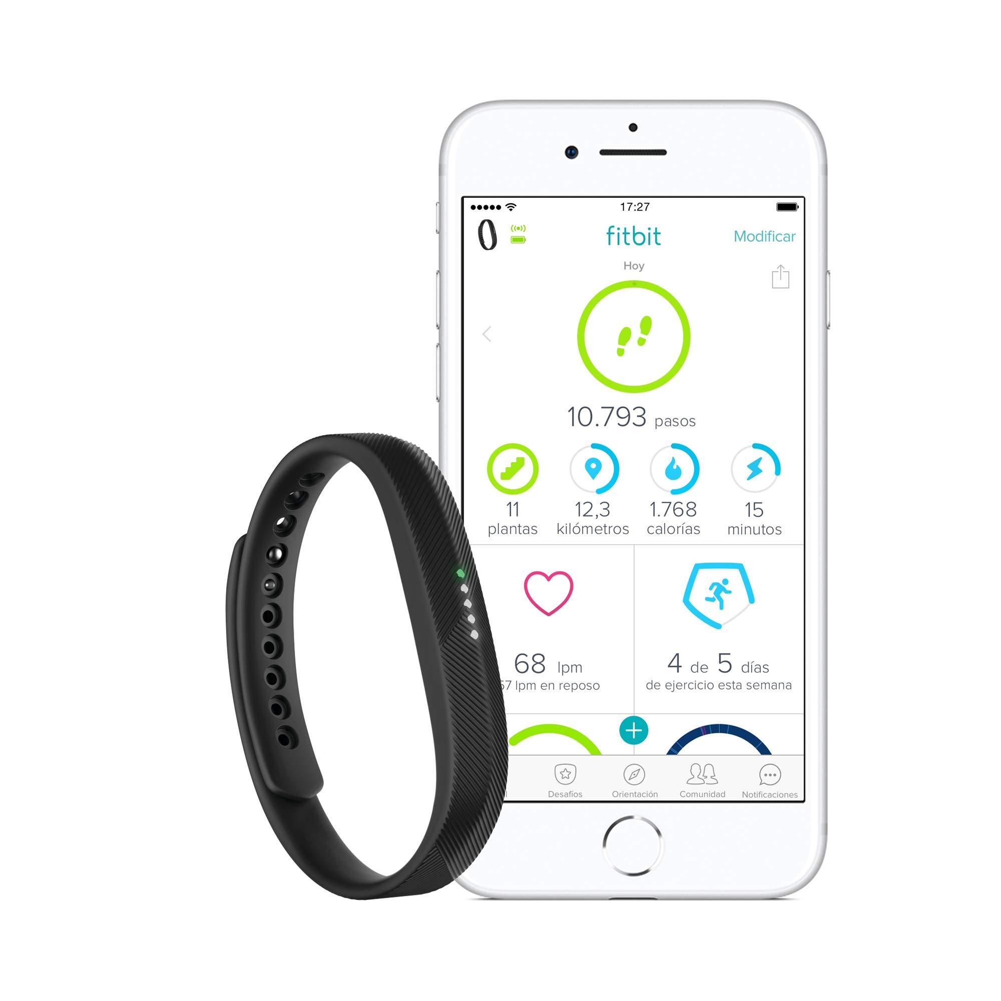 Fitbit Flex 2 Pulsera de Actividad física, Unisex, Negro, Talla ...