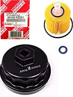 Genuine Oil Filter with Wrench ASPG ZTOOL Premium for 2.5L 3.5L to 5.7L Engines - Perfect for Camry, RAV4, Highlander, Sienna, Tundra and More - Fits 64mm Cartridge Style Oil Filter Housings