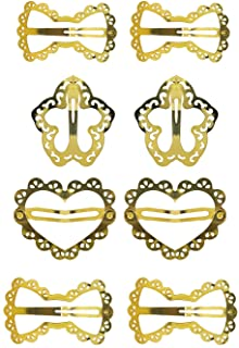 Confidence Tik Tak Hair Clips Hair Pins For Kids Girls And Women For Hair Styling Clips Set Of 4 Golden Pack Of 1 (hair cl...