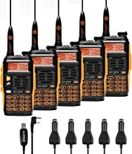 Baofeng GT-3TP Mark-III Tri-Power 8/4/1W Two-Way Radio Transceiver, Dual Band 136-174/400-520 MHz 8W High Power Walkie Talkie, with High Gain Antenna, Upgraded Chip, Programming Cable, 5 Pack