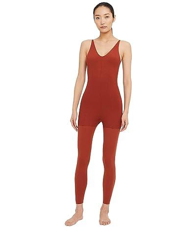 Nike NY Luxe Layered 7/8 Jumpsuit (Rugged Orange/Light Sienna) Women