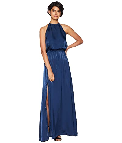 Show Me Your Mumu Heather Halter Dress (Navy Sheen) Women