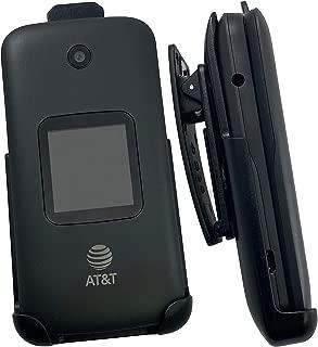 Alcatel Smartflip/Go Flip 3 Phone Holster, Nakedcellphone Black [Rotating/Ratchet] Belt Clip Holder Case [with Kickstand] for Alcatel Go Flip 3, Alcatel Smartflip (2019)
