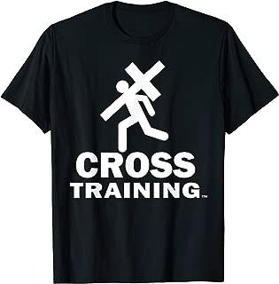 Jesus Cross Training Jesus Surfed Christian Fitness T-Shirt