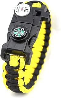 Yntmerry 20 In One Umbrella Rope Bracelet Wolf 2 The same paragraph Compass LED Light Flint Bracelet SOS Lifesaving bracelet