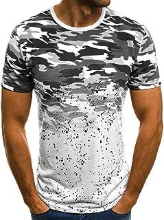 neveraway Mens Short Sleeve Slim Fit Bodybuilding Muscle Tee Tops T-Shirt