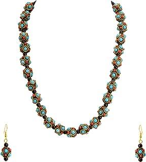 Zephyrr Handmade Tibetan Beads Necklace Set Fashion Jewelry for Women (JAN-2355)