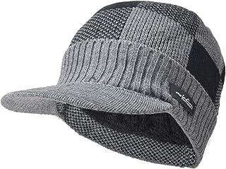 قبعة Ruphedy للرجال مع قناع قبعة الشتاء متماسكة الصوف قبعة نيوزبوي B5042