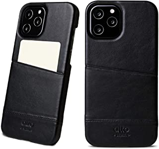 Alto Metro Leather Wallet Case Compatible with iPhone 12 and 12 Pro (6.1 inch), Italian Leather Card Case Designed for App...
