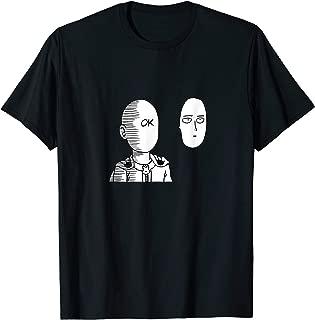 Saitama Ok Face Graphic Shirt - Oppai Otaku Manga Anime Tee