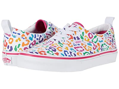 Vans Kids Era Elastic Lace (Big Kid) ((Rainbow Leopard) Fuchsia Purple/True White) Girls Shoes