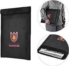 Goolsky Fireproof Money Document File Bag Pouch Cash Bank Cards Passport Valuables Organizer Holder Safe Storage for Home Office