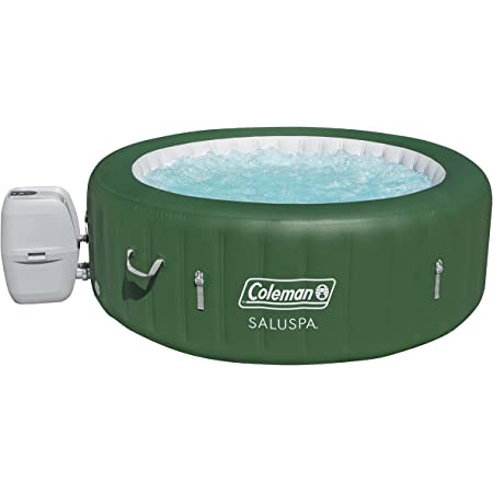 Coleman SaluSpa Inflatable Hot Tub | Portable Hot Tub W/ Heated Water System & Bubble Jets | Fits up to 6 People