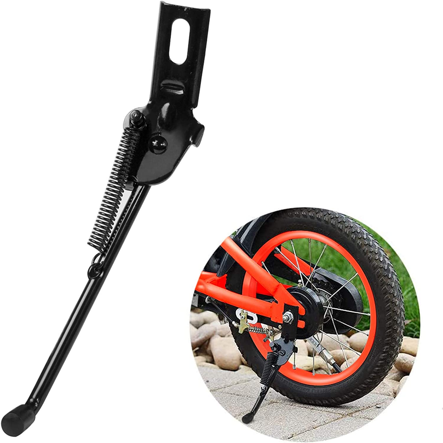 Herasa Kickstand for Kids Bike,12//14//16//18 Inch Bicycle Kickstand Replacement for Training Wheel Made of Upgraded Version Premium Carbon Steel