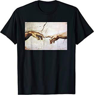 The Creation of Adam by Michelangelo Classic Painting T-Shirt