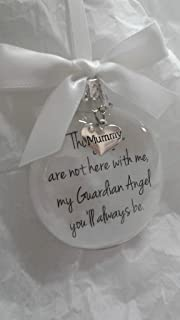 In Memory Mummy Gift Mother Memorial Christmas Bauble Ornament My Guardian Angel