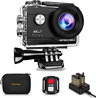 Apexcam 4K WiFi Action Cam 20MP Ultra HD Action Camera Impermeabile Sott'acqua 40M 2'' Sports Cam 2.4G Telecomando 170° Gr...