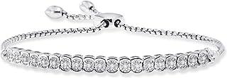 1/10 Cttw Thin Diamond Tennis Bracelet for Women in...
