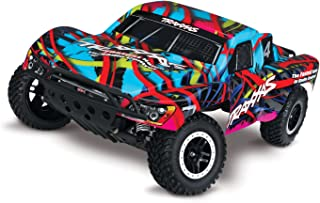 Traxxas 58076-4 HWN Hawaiian Slash 2WD 1/10 Brushless Short Course Truck with TQI 2.4 Ghz Radio/TSM