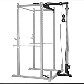 REP FITNESS LAT Pull Down/Low Row Accessory for 1000 Series Power Racks - Attachment for PR-1100 and PR-1000 Weight Cages