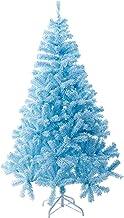 WSJTT Seasonal Décor Christmas Trees Blue Artificial Snow Flocked Set Spruce Hinged Xmas Pine Tree Holiday Decoration Eco-...