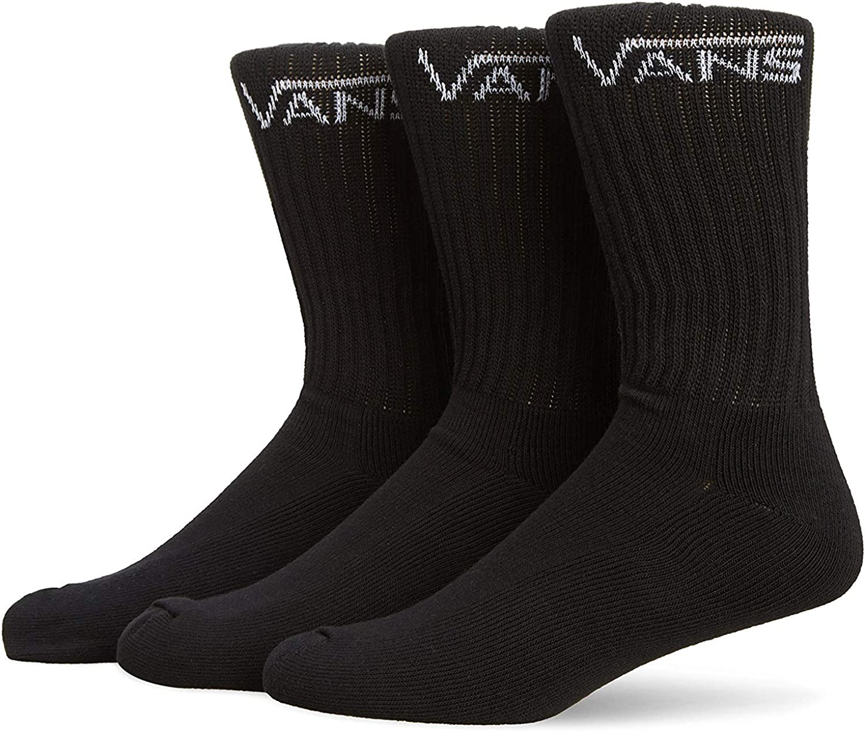 VANS | Classic Crew-Socks | 3-Pair Pack, Black, Large (9.5-13)