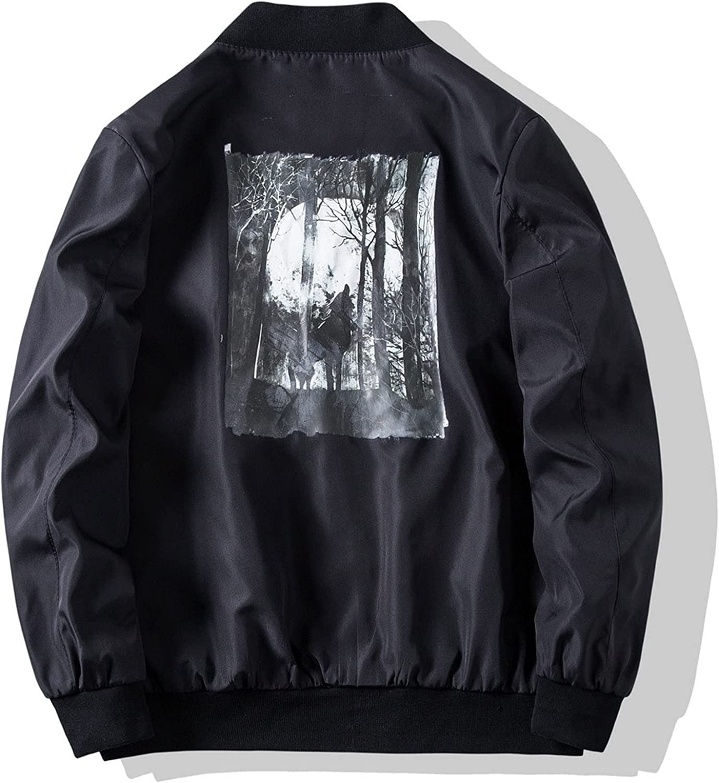 Men's Solid Printed Jackets With Pocket, Animal print Modern jacket V294