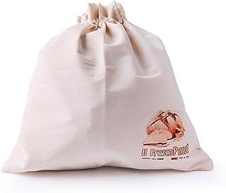 Bergamaschi & Vimercati Excelsa The conservapane Bread Bin, Cotton, Cream, 43x 45x 0.5cm