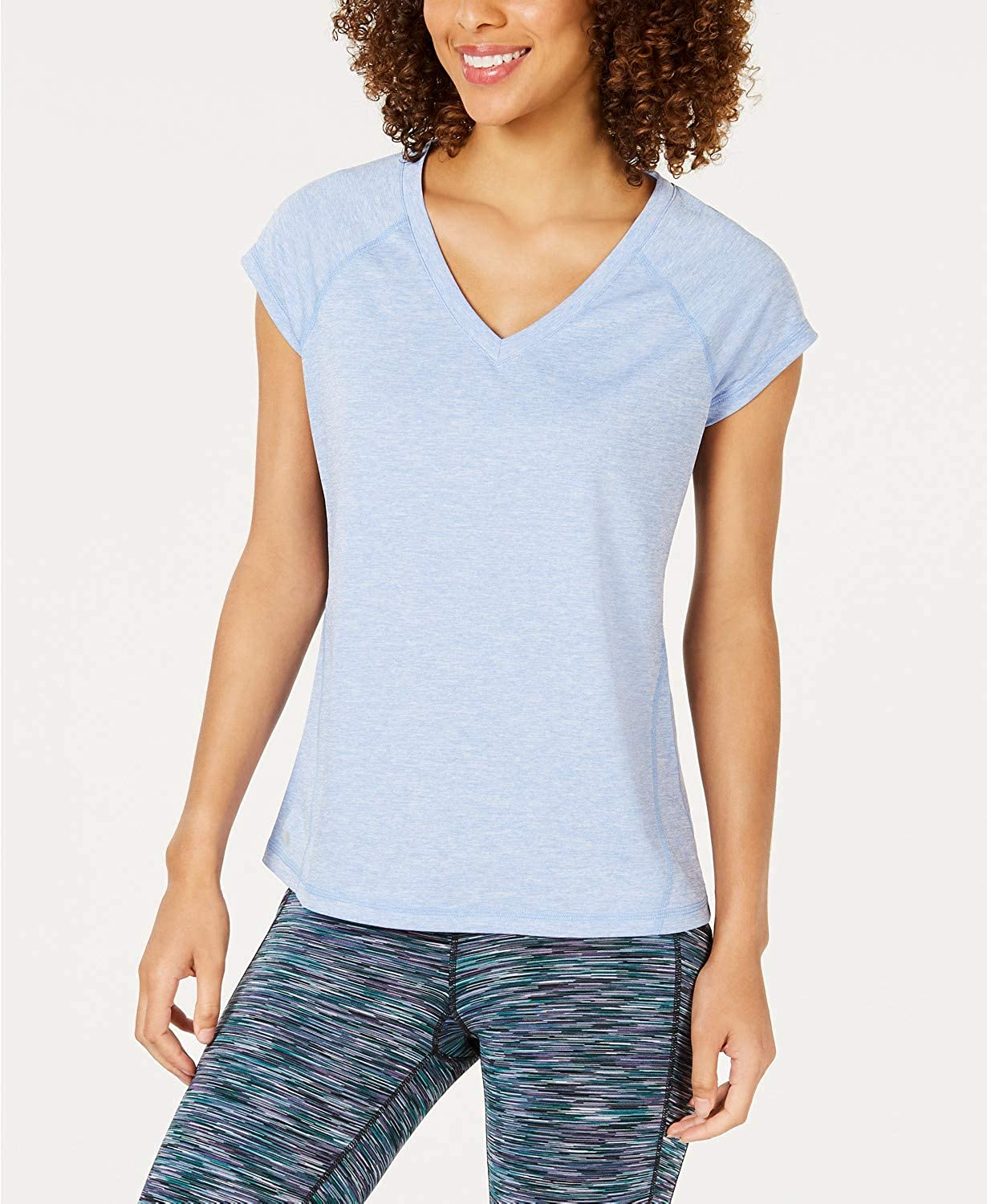 Ideology Womens Moisture Wicking Heathered TShirt