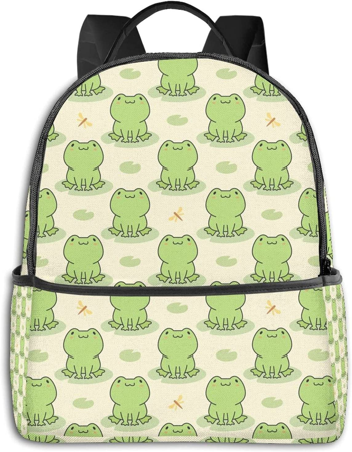 Cute Cartoon Frog and Dragonfly Travel Backpack Womens for Mens price Elegant