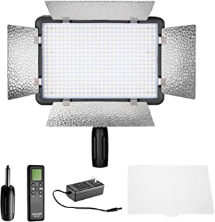 Neewer LED 500 Ultra High Power Dimmable Video Light with Built-in LCD Panel with Remote Control for Canon, Nikon, Pentax, Panasonic, Sony, Samsung, Olympus and Other Digital DSLR Cameras