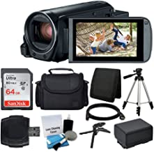 Canon VIXIA HF R800 Camcorder (Black) + SanDisk 64GB Memory Card + Digital Camera/Video Case + Extra Battery BP-727 + Qual...