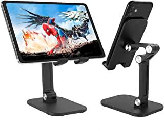 Tenei Cell Phone Stand Tablet Holder Angle Height Adjustable Portable Mount Compatible for iPad, iPad Pro 12.9, iPhone, Sw...