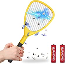 Wellgoo Large Electric Fly Swatter Bug Zapper, High Voltage Handheld Mosquito Killer, Fruit Fly, Insect Trap Racket for Indoor and Outdoor Control (2 AA Batteries Included)