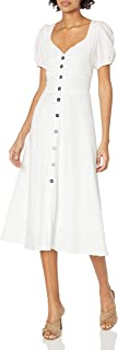 ASTR the label womens Puff Sleeve Pippa Button Down Midi Dress Dress