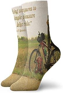 iuitt7rtree, Calcetines Deportivos El Placer Simple de un Paseo en Bicicleta Calcetines Deportivos Elegantes Cojines antibacterianos para olores Calcetines Cortos para Botas 7046