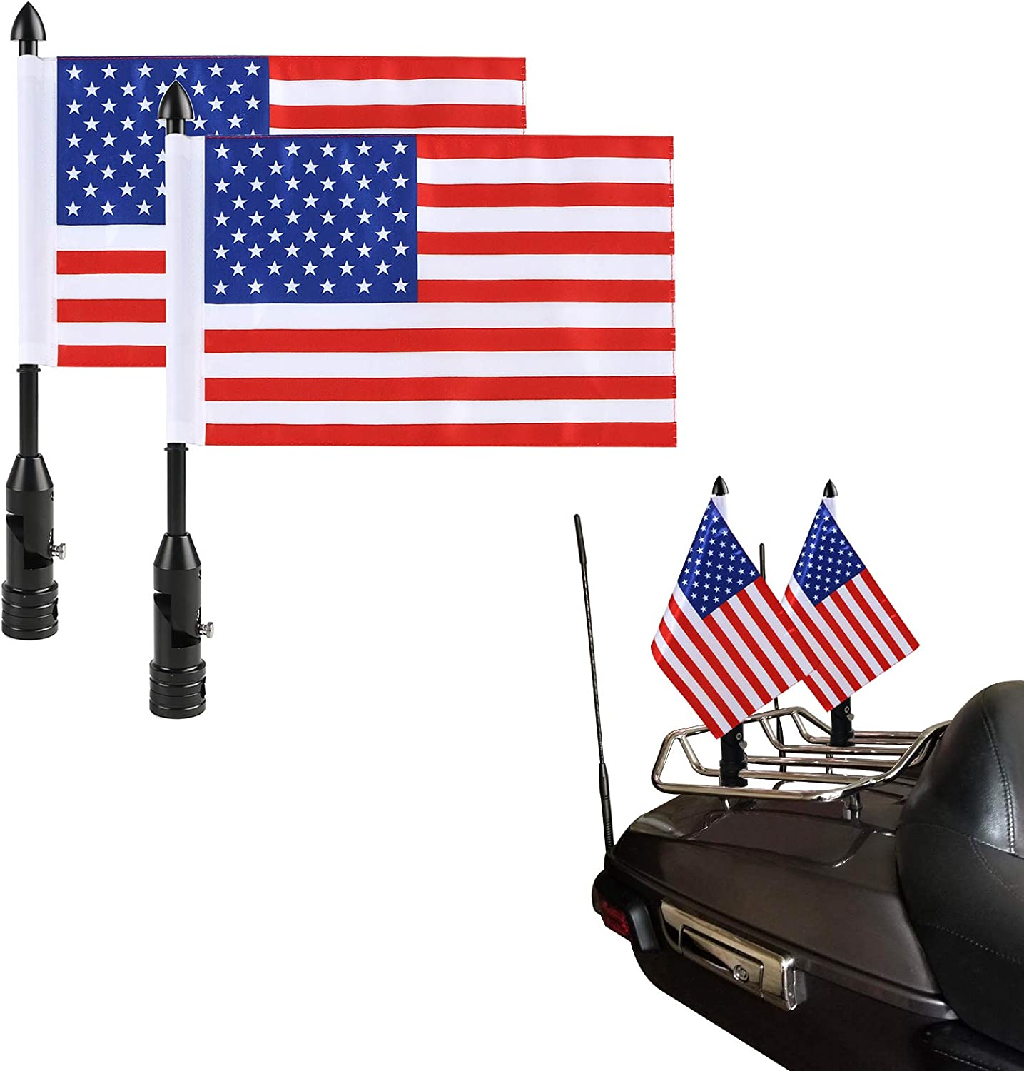 Seattle Mall Adjustable Motorcycle Flag Pole Mount Baltimore Mall Down 90° Fold with Amer