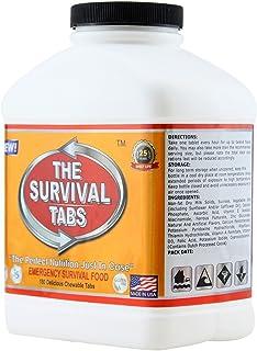 究極のカロリータブレット Survival Tabs サバイバルタブ いざというときの完璧な栄養補給! (1×180個 ボトル) [並行輸入品]