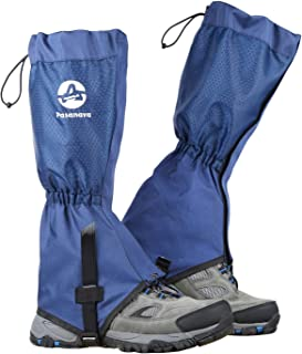 Pasanava Leg Gaiters Waterproof and Adjustable Walking Snow Boot Gaiters with TPU Foot Strap for Hiking,Backpacking and Outdoor for Man and Woman